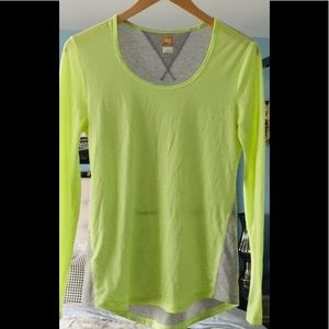Lucy LucyTech Neon LS Workout Tee Small